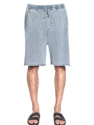 Cheap Monday Razor Washed Cotton Blend Shorts