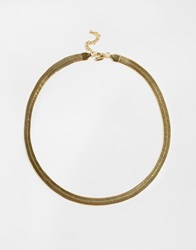 Selected Femme Ojo Smooth Necklace Gold