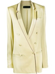 Haider Ackermann Oversized Double Breasted Blazer Green