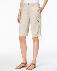 Style And Co Ruched Bermuda Shorts Only At Macy's Stonewall