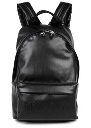 Mcq By Alexander Mcqueen Black Faux Leather Backpack