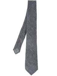 Brunello Cucinelli Stylised Check Tie Grey