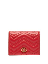 Gucci Gg Marmont Quilted Leather Wallet Red