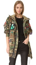 Marc Jacobs Camo Hooded Anorak Multi