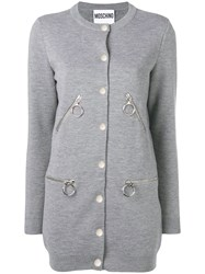 Moschino Button Up Cardigan Grey