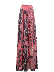 Chloe Floral Fil Coupe Gown Pink And Purple