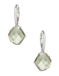 Nadri Black Mother Of Pearl And Sterling Silver Pentagon Drop Earrings