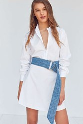 Urban Outfitters Denim Extra Long D Ring Belt Blue