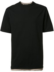 Alexander Wang T By Double Layered T Shirt Black
