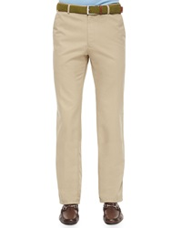 Peter Millar Raleigh Washed Twill Pants Khaki