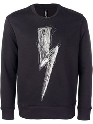 Neil Barrett Lightning Bolt Jumper Blue