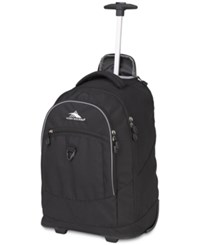 High Sierra Chaser Wheeled Backpack Black