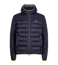 Hackett Aston Martin Hooded Down Jacket Male Navy
