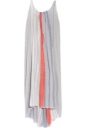 Lemlem Almaz Striped Cotton Blend Gauze Maxi Dress Gray