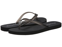 Tommy Bahama Whykiki Flat Solid Black Women's Toe Open Shoes