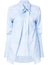 Y Project Asymmetric Layered Shirt Blue