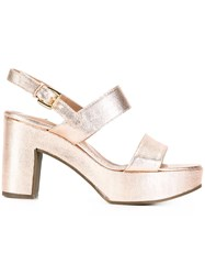 L'autre Chose Platform Sandals Pink Purple
