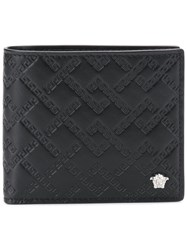 Versace Quilted Wallet Black