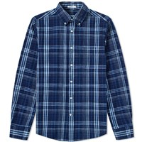 Gant Rugger Indigo Check Button Down Shirt Blue