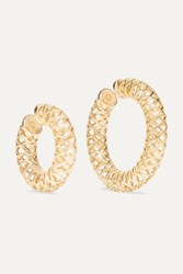 Saskia Diez Set Of Two Gold Plated Ear Cuffs One Size