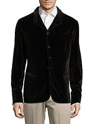 Vince Camuto Notched Lapel Four Button Jacket Brown