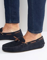 Ted Baker Moriss Suede Slippers Navy