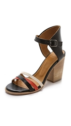 Coclico Cherry Block Heel Sandals Black Marsala Adrar