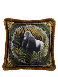Versace Bob Gorilla Printed Silk Accent Pillow