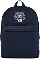 Kenzo Blue Nylon Tiger Backpack