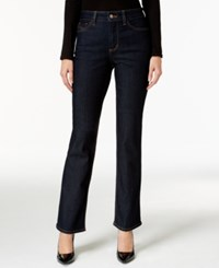 Nydj Hayley Straight Leg Dark Enzyme Wash Jeans