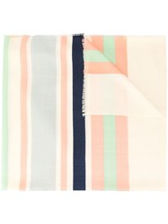 Tory Burch Striped Traveler Oblong Scarf Multicolour