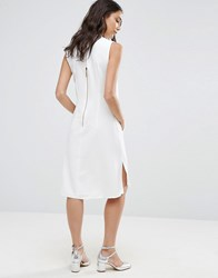 Closet London Sleeveless Collared Tunic White