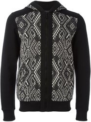 Christian Pellizzari Patterned Zipped Hoodie Black