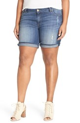 Plus Size Women's Kut From The Kloth 'Catherine' Denim Boyfriend Shorts