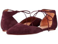 Splendid Annabelle Dark Wine Suede Women's Dress Flat Shoes Burgundy