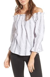 Socialite Women's Stripe Off The Shoulder Top