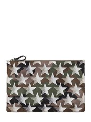 Valentino Stars And Camouflage Printed Nylon Clutch