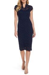 Rosemunde Women's Delicia Lace Body Con Dress Dark Blue