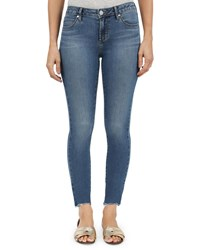 Articles Of Society Carly Skinny Crop Raw Hem Jeans Blue