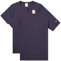 Champion Reverse Weave Classic Tee 2 Pack Blue