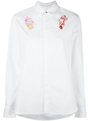 Kenzo Badges Embroidered Shirt