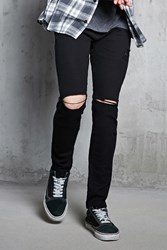 Forever 21 Distressed Ankle Zip Jeans