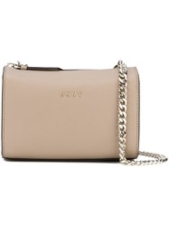 Dkny Chain Strap Crossbody Bag Nude And Neutrals