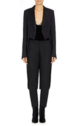 Dries Van Noten Women's Balcom Tuxedo Jacket Black Blue Black Blue