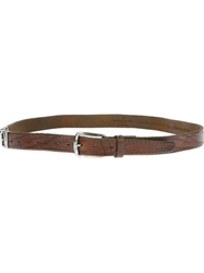 Golden Goose Deluxe Brand Distressed Leather Belt Brown