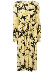 Stine Goya Lydia Floral Print Dress Yellow