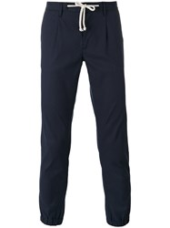 Paolo Pecora Tapered Trousers Men Cotton Linen Flax Spandex Elastane 46 Blue