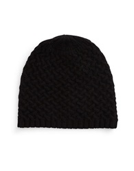 Lord And Taylor Cashmere Knit Beanie Black