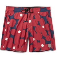 Saturdays Surf Nyc Danny Floral Print Swim Shorts Burgundy