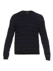 Raf Simons Intarsia Knit Wool Blend Sweater